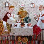 Anna Silivonchik. Tea drinking