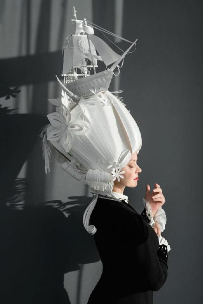 Attractive paper wig by Asya Kozina