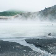 Boiling lake in Kunashiri
