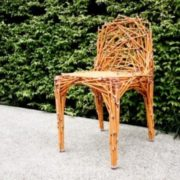Chair made of pencils
