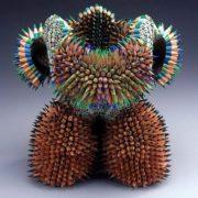 Cute sculpture of pencils by Jen Maestre