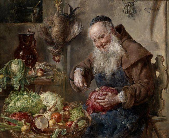 Ernst Nowak. In the kitchen