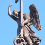Figure of an angel with a cross