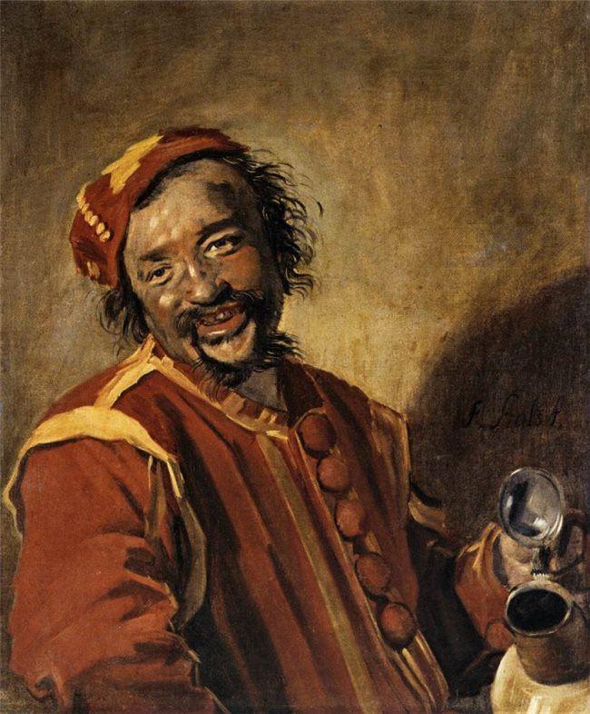 Frans Hals. Lachende man met kruik, bekend als Peeckelhaeringh