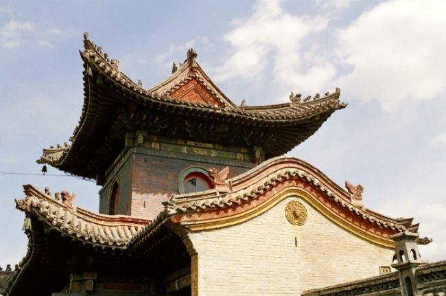 Huge temple complex in the center of Ulaanbaatar