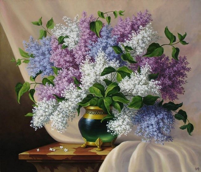 Inna Nowitskaya. Lilac Bouquet
