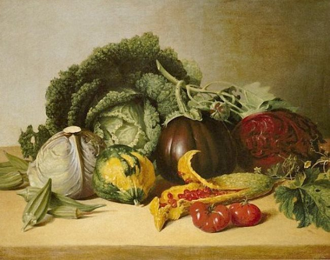 James Peale. Still-Life Balsam Apple and Vegetables. 1820-29