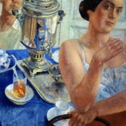 Kuzma Petrov-Vodkin. At the samovar. 1926
