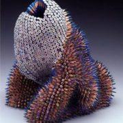 Magnificent sculpture of pencils by Jen Maestre
