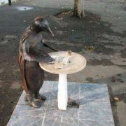Monument Penguin-philosopher in Sukhumi, Abkhazia
