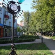 Monument of a dragonfly and an ant in Abakan, Khakassia, Russia