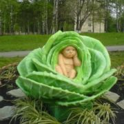 Monument to cabbage in Kemerovo, Russia