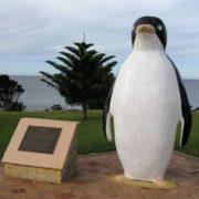 Monument to penguin in Australia