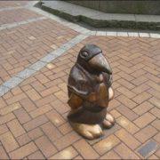 Monument to penguin in Dnepropetrovsk, Ukraine