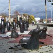 Monument to penguins in Germany