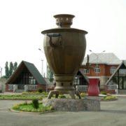 Monument to samovar in Azerbaijan
