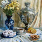 Olga Pavlovna Vorobyova. Invitation to tea