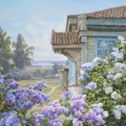 Panov Edward Porfirievich. Lilac in the village