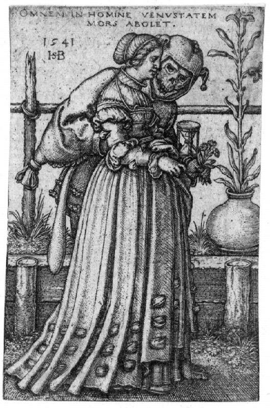 Sebald Beham. Die Dame und der Tod, 1541