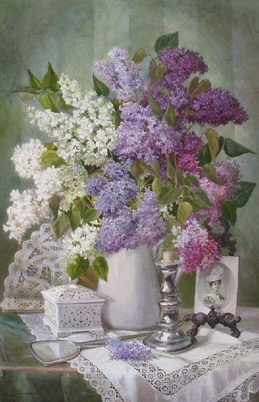V. Kiryanova. Blooming lilacs