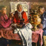 V. Stozharov. At the Samovar