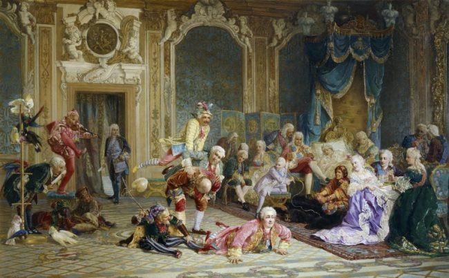 V.A. Jacobi. Fools at the court of Empress Anna Ioannovna