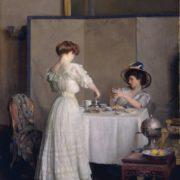 William McGregor Paxton. Tea Leaves, 1909