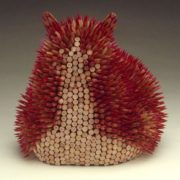 Wonderful sculpture of pencils by Jen Maestre