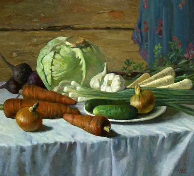 Yury Shteingarz. Still Life with Vegetables. 2007