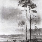 Alexey Kondratievich Savrasov. Pines near the swamp. 1882