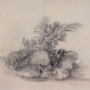 Alexey Savrasov. Fern leaves and burdock