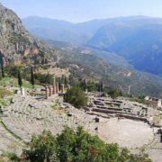 Ancient Greek city of Delphi