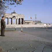 August 1961. View of the Brandenburg Gate from West Berlin