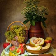 Beautiful still life with melon by Elena Tatulyan