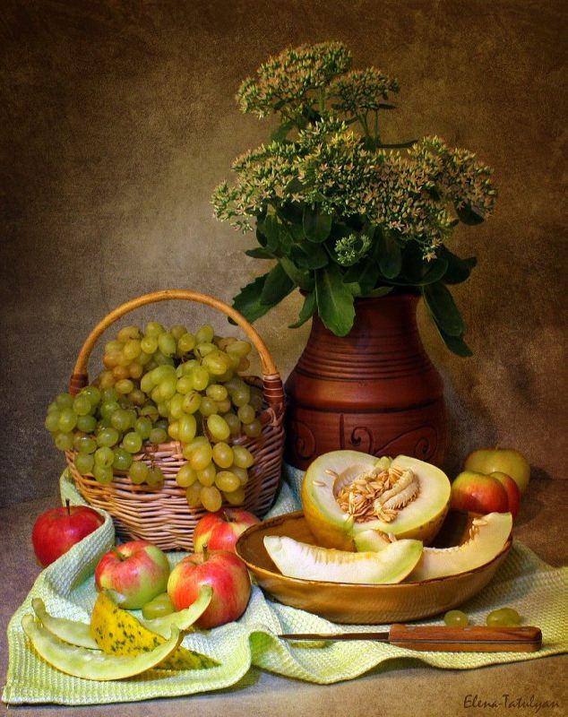 Beautiful still life with melon by Elena Tatulyan