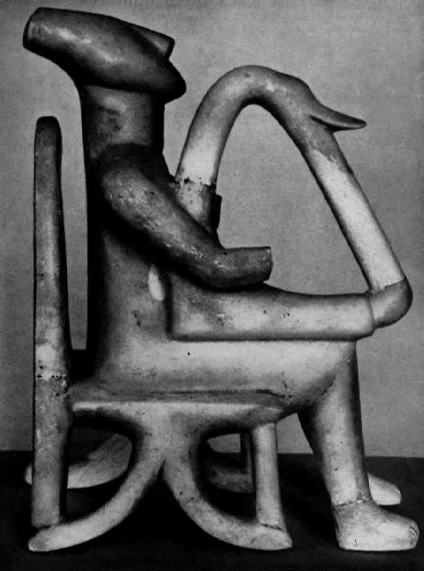 Cipher player. Figurine from the island of Keros, Cyclades. Marble