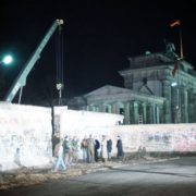Dismantling of the Wall section near the Brandenburg Gate, December 21, 1989
