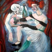 Elena Seredina (Kotlyar). Pierrot and Colombina. Absinthe, 2013