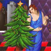 Eric Gibbons. Christmas Tree (Style of Tamara de Lempicka).