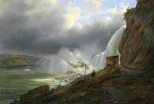Ferdinand Richardt. View of Niagara Falls