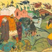 First exploits of Ilya Muromets. Artist V. Fokeev