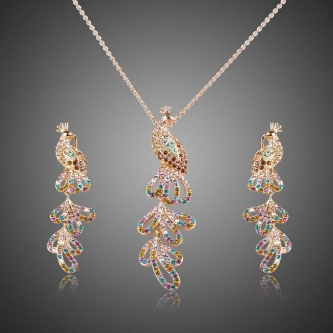 Gorgeous necklace and earrings Firebird