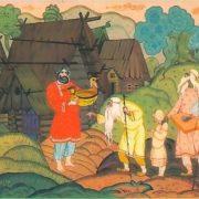 Healing of Ilya Muromets. Artist V. Fokeev