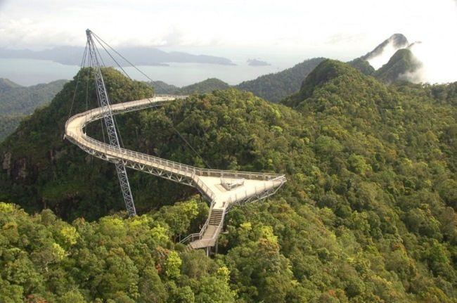 Heavenly Bridge in Langkawi, Malaysia