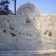 Ice Firebird in Krasnoyarsk, Russia