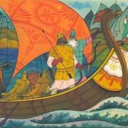 Ilya Muromets at Sokol-ship. Artist V. Fokeev