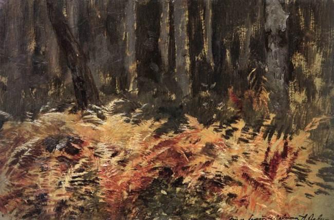 Isaac Levitan. Ferns. 1895