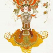 L. Bakst. Sketch for the ballet Firebird