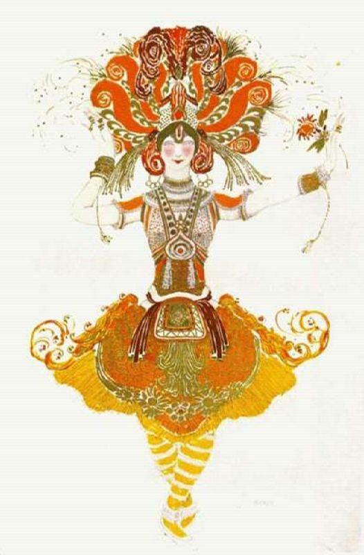 L. Bakst. Sketch for the ballet Firebird