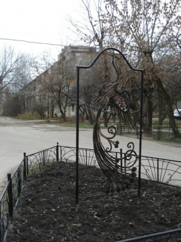 Monument to Firebird in Serpukhov, Moscow region, Russia